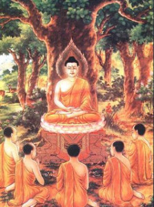 The Buddha delivered his first sermon at Sarnath