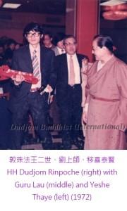 敦珠法王二世、劉上師、移喜泰賢