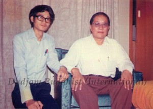 1 HH Dudjom Rinpoche with Yeshe Thaye in Hong Kong (1972)