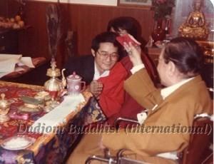 12 HH Dudjom Rinpoche Bestowing Empowerments to Yeshe Thaye (1981)1