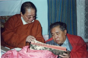 12 HH Dudjom Rinpoche was Bestowing the Nyingma Gyubum to Guru Lau (1981)