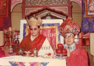 13 HH Dudjom Rinpoche with Guru Lau in Hong Kong (1981)-small