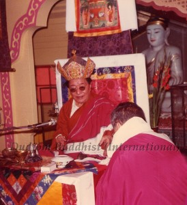 15 HH Dudjom Rinpoche with Guru Lau in Hong Kong (1981)