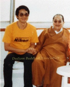 16 HH Dudjom Rinpoche with Yeshe Thaye in Hong Kong (1984)