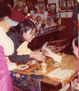 17 HH Dudjom Rinpoche Bestowing Empowerments to Pema Lhadren (1981)1