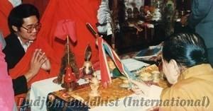 17 HH Dudjom Rinpoche Bestowing Empowerments to Yeshe Thaye (1984)2