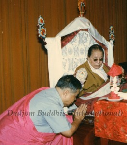 18 HH Dudjom Rinpoche Bestowing Empowerments to Guru Lau in Taiwan (1984)