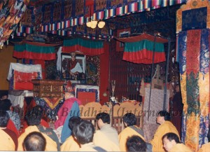 25 Guru Lau with Disciples During the Ceremony for the Enshrinement of HH Dudjom Rinpoche's Kudung in Nepal (1989)