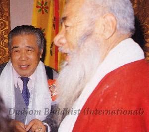 25 Guru Lau with HH Kyabje Chadral Rinpoche (1989)