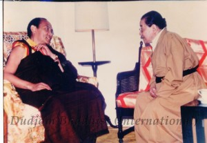 HH Dudjom Rinpoche with HH 16th Karmapa