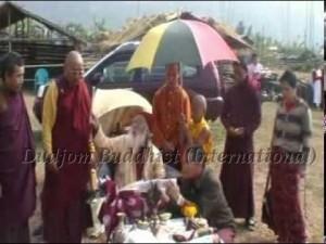 HH Kyabje Chadral Rinpcohe Consecrated the Earth for the Dipamkara Stupa, Gorubathan, India (2006)