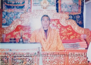 HH Kyabje Chadral Rinpoche as Spiritual Master of the Tibet Regent Gyaltsap Reting