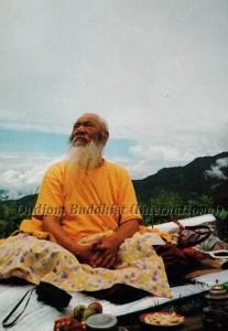 HH Kyabje Chadral Rinpoche at Picnic (1997)