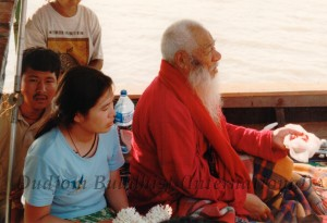 HH Kyabje Chadral Rinpoche with Tsemo Saraswati During the Fish