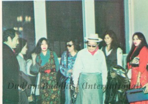 HH Kyabje Dudjom Rinpoche and Family Due for Departure at Hong Kong Airport (1972)