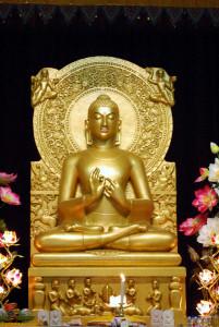 Lord Buddha's First Turning of the Dharma Wheel (at Mulgandha Kuti Vihar, Sarnath, India)