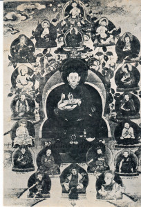 Photo of HH Kyabje Dudjom Rinpoche's Line of Incarnations called Crystal Pearls Given to Ven. Guru Lau-small