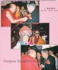 Ven. Guru Lau with Kyabje Trulshik Rinpoche