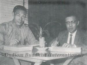 Ven. Guru Lau with Tulku Mingyur Ngawang Tenzin - small